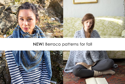 New Berroco patterns for fall