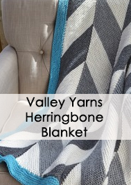 Valley Yarns 645 Herringbone Blanket