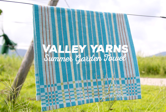 Valley Yarns #85 Summer Garden Towel