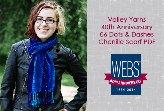 Valley Yarns 40th Anniversary 06 Dots & Dashes Chenille Scarf PDF