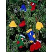 210 Felt Christmas Ornaments