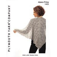 1422 Wings Large Triangle Shawl