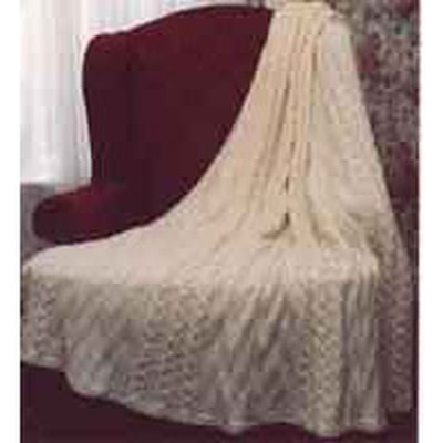 Plymouth Knitting Patterns : Plymouth Yarn P122 Diamond And Cable Afghan at WEBS Yarn.com