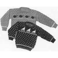 5 Child's Sailboat & Whale Sweaters