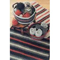 216 Crocheted Felt Rug & Basket