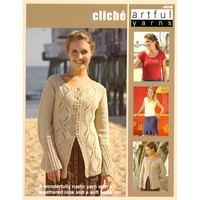 92240 Cliche-cardigan, Tulip Skirt, Cable Panel Top