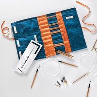 Bamboo Circular Interchangeable Knitting Needle Set