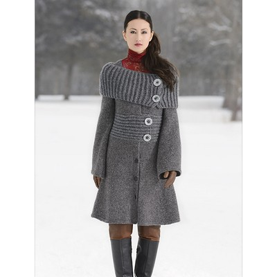 Knitting Patterns For Coats : Blue Sky Fibers Moscow Coat at WEBS Yarn.com