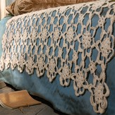 Blue Sky Fibers Crochet Coverlet