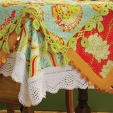 Blue Sky Alpacas Lace Trim Tablecloths