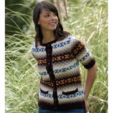 Cascade Yarns DK255 Women's Retro Fair Isle Cardigan (Free)