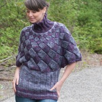 Entrelac Tunic/Poncho Pullover (Free)