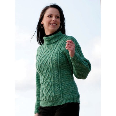 Cascade Yarns W210 220 Superwash Lattice Knit Sweater and Hat (Free) at WEBS ...