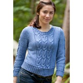 Classic Elite Yarns Avenue Cabled Pullover (Free)