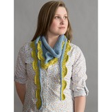 Classic Elite Yarns Two-Color Seedling Scarf (Free)