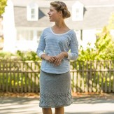 Classic Elite Yarns Viewpoints 1514 From Folly Cove - Curtis Skirt PDF
