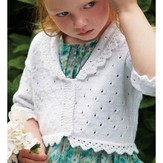 Debbie Bliss Lace Edged Cardigan PDF - Magazine #10