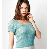 Debbie Bliss Sideways Knitted Pullover PDF