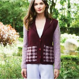 Debbie Bliss Jacket With Tartan Pockets PDF