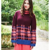 Debbie Bliss Tartan Detail Sweater PDF