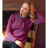 Debbie Bliss Shawl Collared Sweater PDF