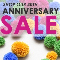 40th Anniversary Sale, April 1–May 31