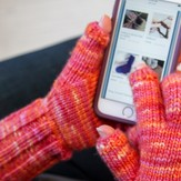 I-Cord Gloves (With Text Finger Option)
