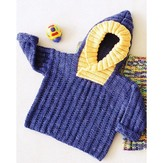 Fiber Trends CH39 Back Zip Baby Sweater