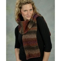F316 Diagonal Tube Scarf Kit (Free Pattern)