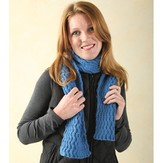 Valley Yarns 240 Reversible Wave Cabled Scarf (Free Pattern)