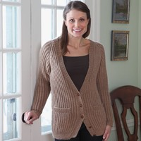 358 Fisherman's Rib Cardigan