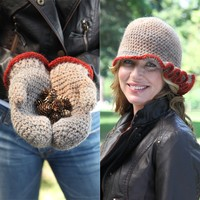 424 Favia Crocheted Hat and Mittens Kit