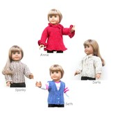 "Knitting at Knoon 18"" Doll Sweaters, Collection Two"