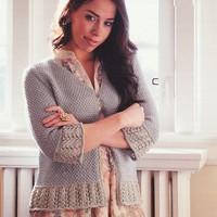 M5001 Lace Edge Cardigan