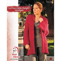 1092 Lattice Cable Delight Cardigan PDF