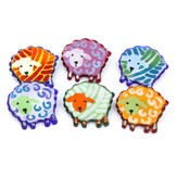 Jan Mitchell Glass Sheep Jewelry Pins