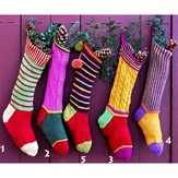 Kristin Nicholas Designs Colorful Christmas Stockings PDF