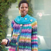 Cabled Coat with Cowl PDF