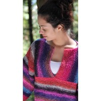Ladies' Sweater (Silk Garden Lite) PDF