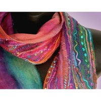 Nuno Ribbon Felt Scarves