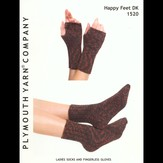 Plymouth Yarn 1520 Ladies Socks and Fingerless Gloves