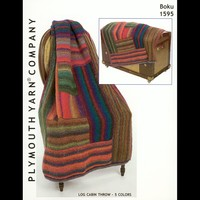 1595 Log Cabin Throw - 5 Colors