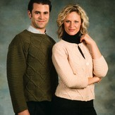 Plymouth Yarn 1789 Unisex Cabled Pullover & Cardigan
