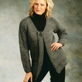 Plymouth Yarn 1796 Ladies Car Coat