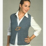 Plymouth Yarn 1907 Royal Llama Silk Vest