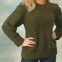 1949 Encore Chunky Tweed Unisex Diamond Pullover