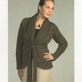 Plymouth Yarn 1995 Baby Alpaca Grande Wrap Jacket