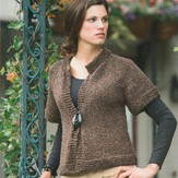 Plymouth Yarn 2003 Taria Tweed Cropped Swing Coat