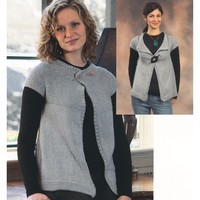 2073 Vita Ladies Garter Yoke Cardigan