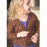 Plymouth Yarn 2134 Happy Feet DK Kid's Lace Rib Cardigan